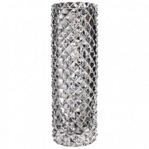 Crystal Diamond Glass Vase - 27cm